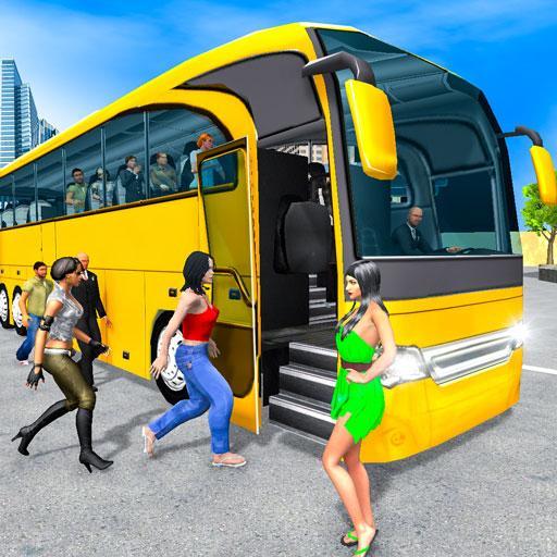moderno autobus guidare simulatore icon