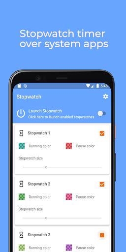 Floating Stopwatch, timer multitasking gratuito screenshot 3