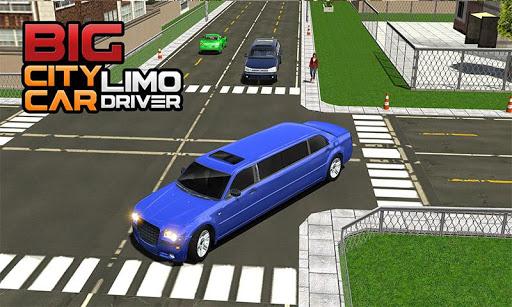 Big City Limo Car Driving Taxi Games screenshot 5