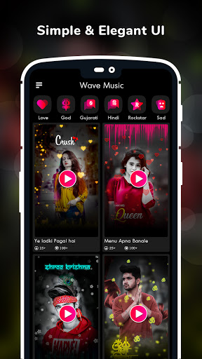 Wave Music : Particle.ly Video Status Maker screenshot 2