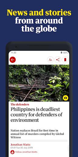The Guardian - World news, Sport and Finance screenshot 2