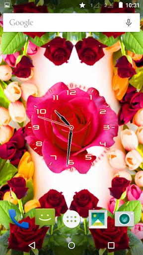Rose Flower Clock screenshot 8