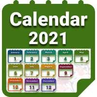 Calendar 2021 with Holidays on 9Apps