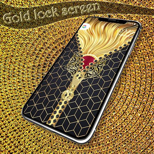 Gold lock screen screenshot 3