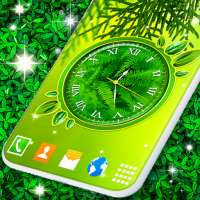 Leaves Clock App 🍃 Forest Live Wallpaper Themes on 9Apps