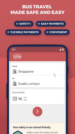 redBus - Online Bus Tickets and Ferry Booking App screenshot 1