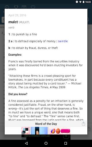 Dictionary - Merriam-Webster स्क्रीनशॉट 13