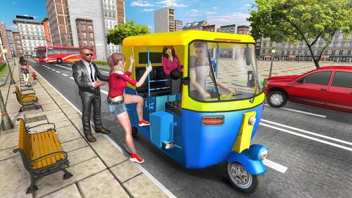 Modern Tuk Tuk Auto Rickshaw - Free Driving Games screenshot 1