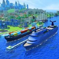 Sea Port: 마을 건설 & 화물 운송 전략 시뮬레이션 on 9Apps