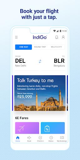 IndiGo-Flight Ticket Booking App 1 تصوير الشاشة