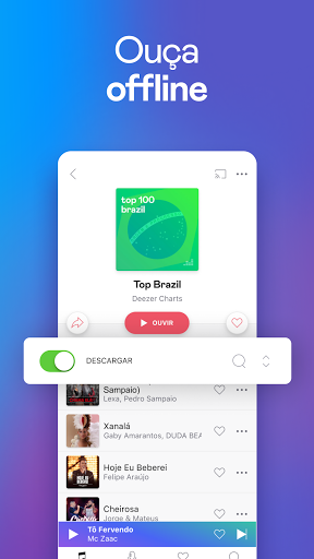 Deezer: Ouvir Músicas, Playlists e Podcasts screenshot 3