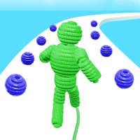 Rope-Man Run on 9Apps