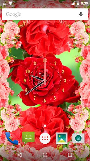 Rose Flower Clock screenshot 11