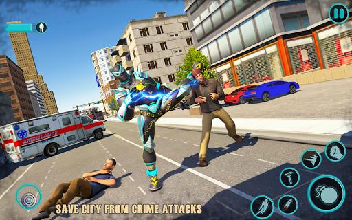 Flying Panther Robot Hero: Robot Black Hero Games screenshot 3