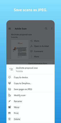 Adobe Scan: PDF Scanner with OCR, PDF Creator screenshot 2