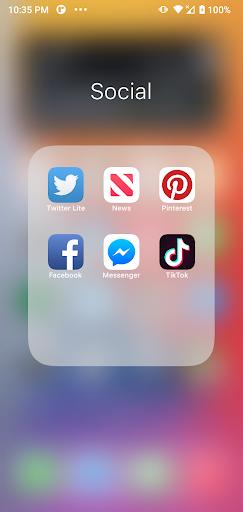 Launcher iOS 15 screenshot 4