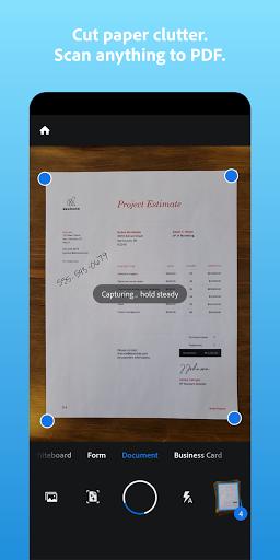 Adobe Scan: PDF Scanner with OCR, PDF Creator screenshot 1
