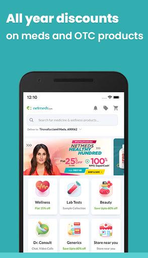 Netmeds - India's Trusted Online Pharmacy App screenshot 1