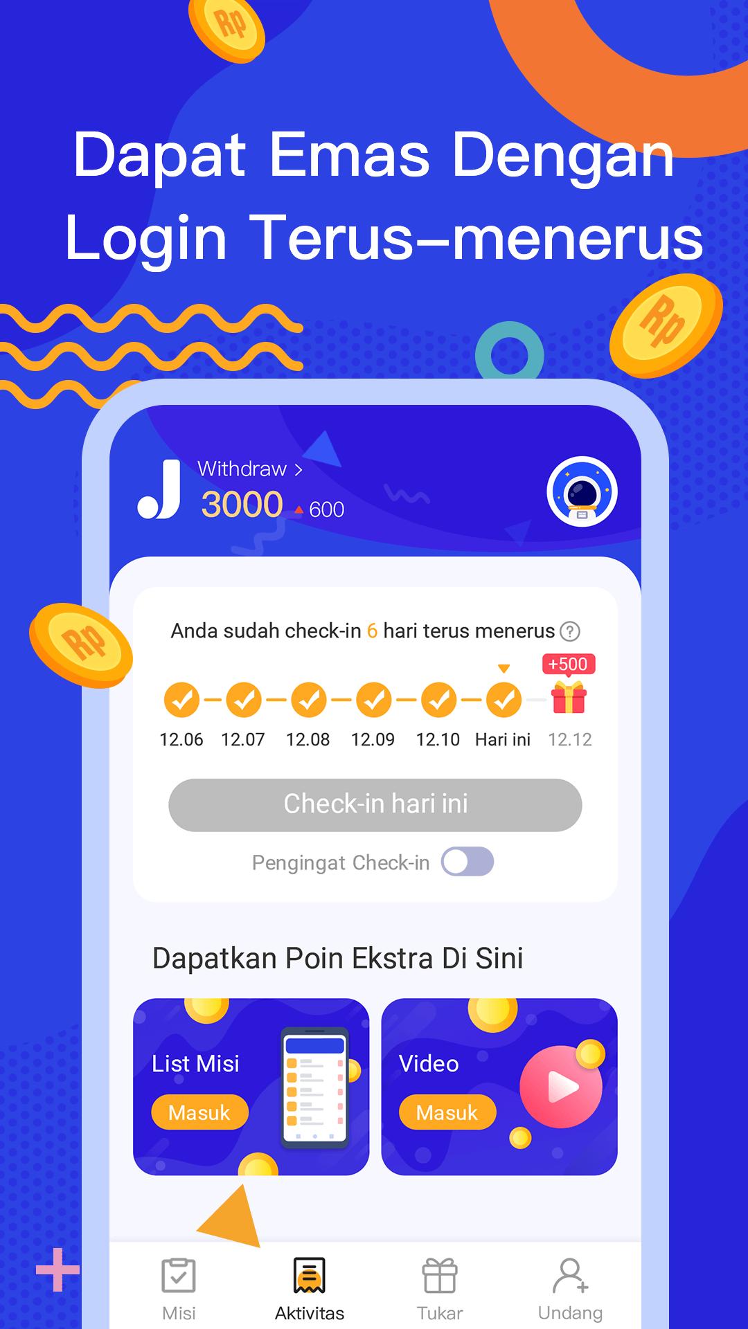 JadiDuit - Free dapat uang, data dan gift screenshot 3