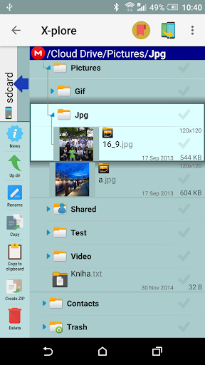X-plore File Manager скриншот 8
