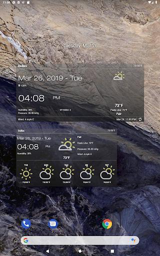 Hava ve saat Widget için Android (Hava durumu) screenshot 13