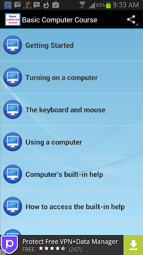 Basic Computer Course screenshot 1
