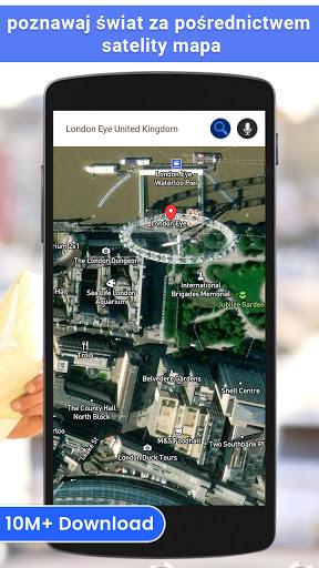 GPS satelita - żyć Ziemia mapy & głos nawigacja screenshot 1