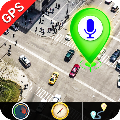 GPS Satellite - Live Earth Maps & Voice Navigation icon