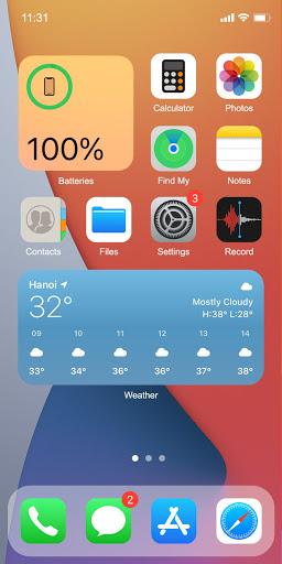 Phone 13 Launcher, OS 15 Launcher, Control Center screenshot 2