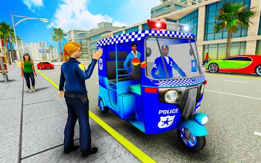 Police Tuk Tuk Auto Rickshaw Driving Game 2021 screenshot 1