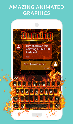 Wave Keyboard Background - Animations, Emojis, GIF screenshot 2