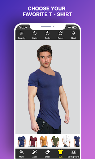 Man T-Shirt Suit Photo Editor स्क्रीनशॉट 3