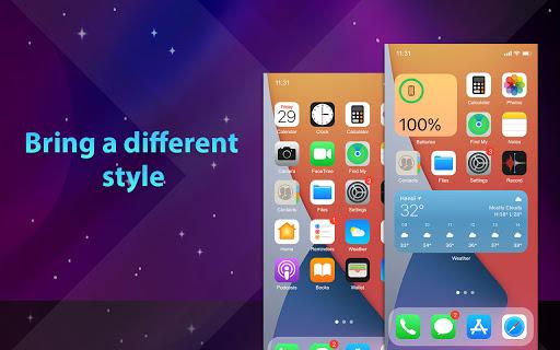 Phone 13 Launcher, OS 15 Launcher, Control Center screenshot 9
