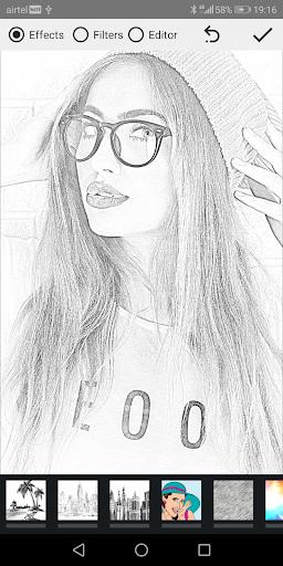 Pencil Photo Sketch-Sketching Drawing Photo Editor स्क्रीनशॉट 10