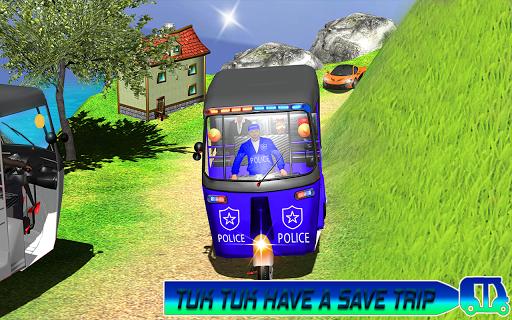 Police Tuk Tuk Auto Rickshaw Driving Game 2021 screenshot 4