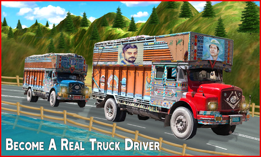New Offroad Cargo Truck Driving Simulator Game 3D screenshot 2