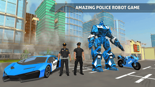 Polizeiauto Robotertransporter screenshot 3