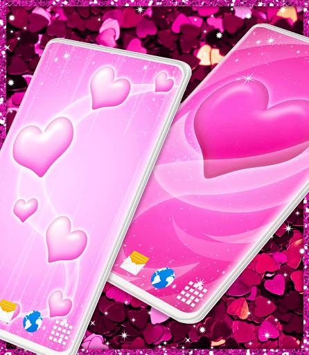 Pink Hearts Live Wallpaper ❤️ Heart Wallpapers screenshot 5