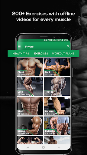 Fitvate - Home & Gym Workout Trainer Fitness Plans screenshot 1