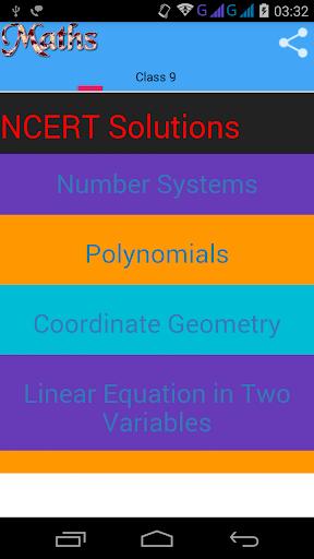 Class 9 Maths Solutions screenshot 1