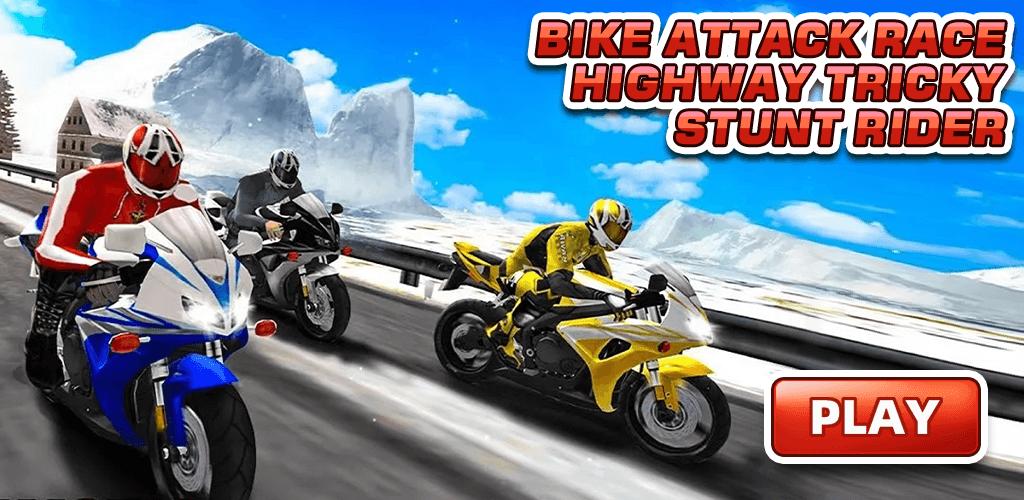 Bike Attack Race Highway Tricky Stunt Rider скриншот 1