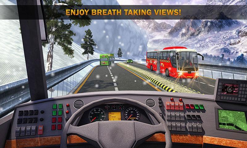 Uphill Bus Drive : Christmas Bus Simulator screenshot 4
