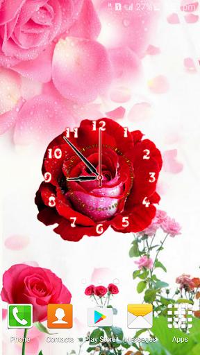 Rose Flower Clock screenshot 4
