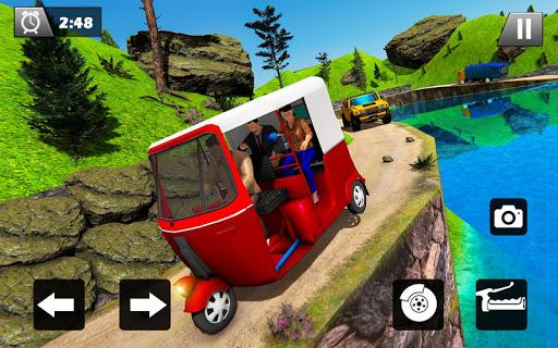 Tuk Tuk Driver Offroad Drive: Transport Passenger screenshot 13