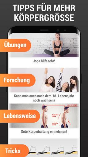 Mehr Körpergröße - Größer werden, Workout zuhause screenshot 7