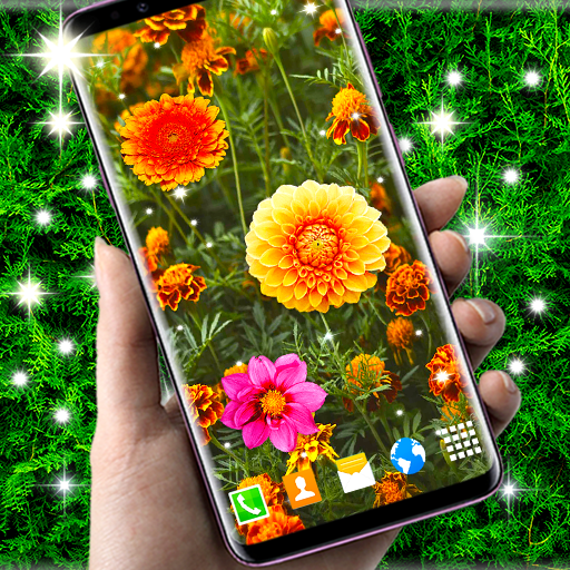 Autumn Flowers 4K Live Wallpaper ❤️ Forest Themes أيقونة