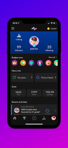 PeerBet - Sports prediction game screenshot 4