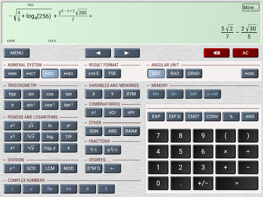 HiPER Scientific Calculator скриншот 13