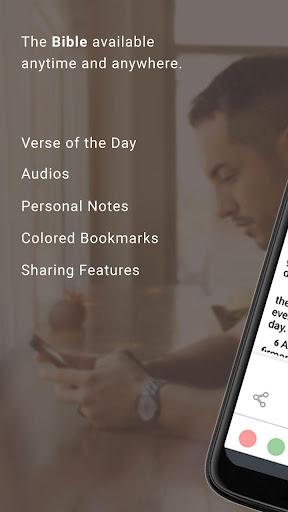 Bible Offline App Free   Audio, KJV, Daily Verse 1 تصوير الشاشة