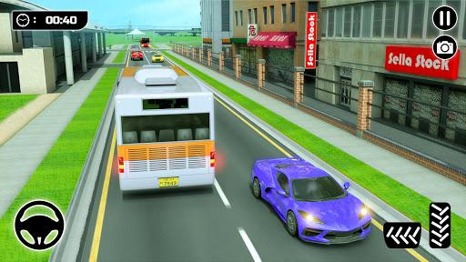 Bus Spiele 2021 Fahrspiel Mega Bus durch die Stadt screenshot 4